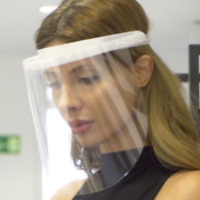 Gesichtsschutz Visier   Gesichtsvisier    Aufklappbar & Einstellbar Schutzvisier