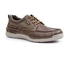 SIMPLE 'Fathom'  Men's Dk. Brown Leather/Canvas  Boat Shoes   Sz. 8.5  M  NIB