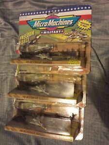 HUGE LOT OF 3 MICRO MACHINES SKYFIGHTER RANGERS #9 SQUADRON F14 B1 SR71 MOCNRFB