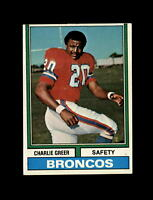 1974 Topps Football #217 Charlie Greer (Browns) NM