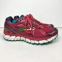 Brooks Adrenaline GTS 15 Women's Size US 6 (B) Athletic Running Shoes Red/Blue