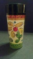 Starbucks Colorful Springtime Flowers ThermoServ 16oz Travel Tumbler Mug w/ Lid