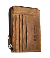 StarHide RFID Proof Real Distressed Leather Thin Multi Card Capacity Wallet 1095