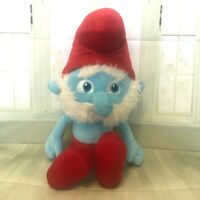 Licensed 42cm Papa Smurf The Smurfs Plush Toys Soft Stuffed Animal Doll