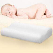 Cuscino in Memory Foam per Bambini Neonati Anti Testa Piatta Sfoderabile Bianco