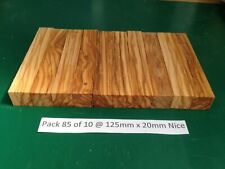 "Pak 85 of 10 Nice Italian Olivewood Pen Blanks 125 x 20,""May 2020 New Stock"""