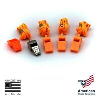AMERICAN WHISTLE - PATRIOT PERSONAL SAFETY WHISTLE & LANYARD FAMILY PACK