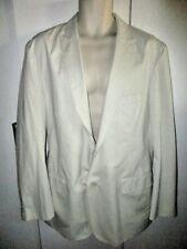 ALFANI  TROPICAL ISLAND Sport Coat CREAM BLAZER MEN'S L BUTTON UP Natural Cotton