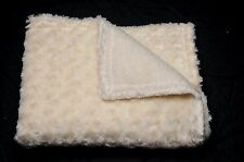 Cozy  Small Pet / Dog Blanket-handcrafted Pale Yellow swirl faux fur / Sherpa