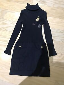 Lili Gaufrette Girls Dress, Size 10, Navy Blue, NWOT.