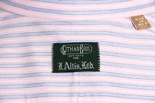 Gitman Bros Brothers Mens Sz 16.5 x 34 Pink Blue Stripe LS Button Up Shirt USA