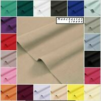 Flat Sheet 100% Poly Cotton Plain Dyed Bed Sheets Single Double King Super King