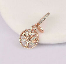 Genuine Pandora Rose Gold ALE R Family Heritage Dangle Charm 781728CZ PC97