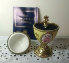 The Franklin Mint House Of Faberge Orchid Musical Egg - Song of a Lark