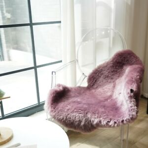 60x80cm 9 colors Australian Sheepskin Rug Natural Fur High&Low Pile Cushion