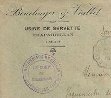 CHAPAREILLAN ISERE PRISONNIERS DE GUERRE USINE DE SERVETTE.  GUERRE 14 18. L1067