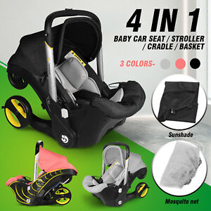 Baby Infant Car Seat Stroller Combos 4 in 1 for newborn, light weight for travel