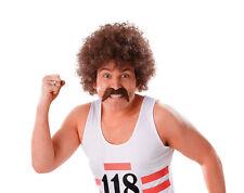 Homme Perruque 118 Tash Set athlète Runner Scouser 80 S 70 S Moustache Faux robe fantaisie