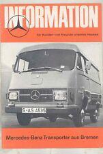 1972 ? Mercedes Benz L206D L207 L306D L307 Van Truck Brochure German wv9507