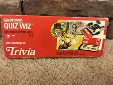 Vintage Coleco Quiz Wiz Game with#5 Cartridge & Quiz Book 1001 Trivia Questions
