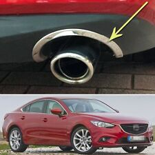 Stainless steel Exhaust Muffler Tail Pipe Cover Trim for Mazda 6 Atenza 13-15