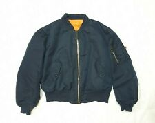 Alpha Industries MA-1 Bomber Jacket Vintage 80s Made in USA Reversible Mens L