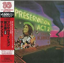 MINI LP CD VYNIL RÉPLICA IMPORT JAPON + OBI THE KINKS / PRESERVATION ACT 2