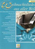 Akkordeon Noten : Weihnachtslieder aus aller Welt   leicht - leichte Mittelstufe