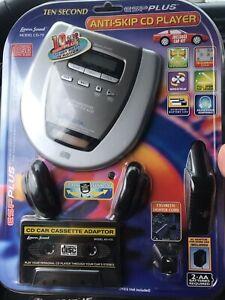 Lenox Sound CD-79 Portable CD Compact Disc Player NO Headphones Auto Adapter NEW