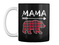 Womens Mama Bear Plaid Family - Gift Coffee Mug