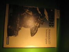 Yamaha Motorcycle / Atv Technical Update Manual Book 1998 Oem # Lit-