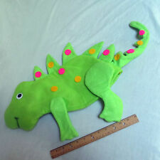 Dinosaur Costume Hat Cap Unisex Plush Thick Felt Bright Lime Green Halloween