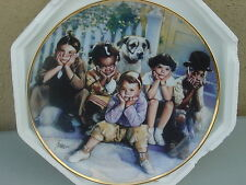 Collector Plates, 2 Norman Rockwell, 1 Little Rascals