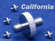"""Lot x 5 Screw 1/4"""" Male to 1/4"""" Male Threaded Convert Adapter Tripod and Head"""