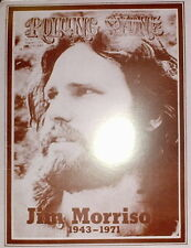 """Jim Morrison Poster Print Aug 1971 Rolling Stone Cover (Death Tribute) 11""""x14"""""""