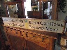 GOD REST YOUR LOVE/BLESS HOME FOREVER prim. wood sign