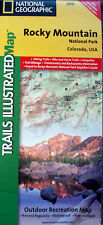 NEW~MAP OF ROCKY MOUNTAIN Nat'l.Pk,CO~NatGeo Topo, Waterproof, GPS Compatable