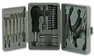 Duratool Mini Tool Kit 26 Pieces Bits Sockets Plier Cutter Drivers 1x Adaptor