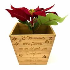 Engraved Personalised Plant Pot - If .... were flowers, we'd pick you everytime