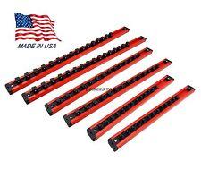 Mechanics Time Saver 1/4 3/8 1/2 Drive Lock A Socket Magnetic Rail Rack Set MTS