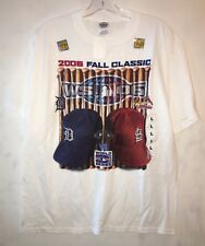 2006 World Series T Shirt White Detroit Tigers St. Louis Cardinals New NWT Large