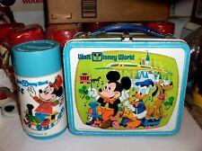 Walt Disney World`1976`Walt Disney Productions Metal`Lunchbox With Thermos->Sale