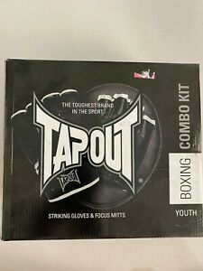 NEW IN BOX TAPOUT STIKING GLOVES & FOCUS MITTS YOUTH BOXING COMBO KIT MMA UFC