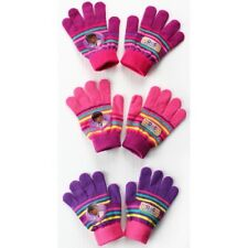 Disney Doc Mcstuffins Knitted 3 Assorted Gloves One Size Kids Accessories Gift