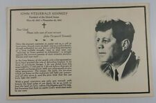 John fitzgerald kennedy Rejected mass funeral Card Rare Great BIN Free Shipping