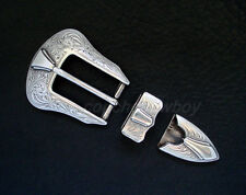 "WESTERN COWBOY BUCKLE ANTIQUE ENGRAVED BELT BUCKLE SET FIT'S 1"" BELT"