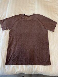 Lululemon Metal Vent Tech 2.0 Shirt - Mint - Mens Large - Red Dusk Arctic Plum