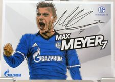 Max Meyer + Autogrammkarte 2017/2018 + FC Schalke 04 + AK201866 +