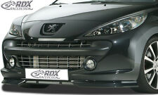 RDX Frontspoiler PEUGEOT 207 (-2009) Front Spoiler Lippe Vorne Ansatz PUR ABS