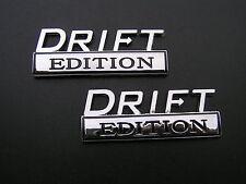 DRIFT EDITION PAIR CAR FENDER BADGES Chrome Metal Emblem *NEW* suit NISSAN etc